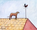 Dog on the Roof (13x16)
