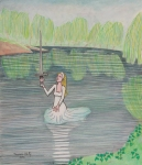 Lady of the Lake  (28 x 24)