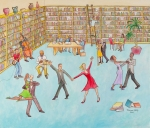 """Party in the Library  36"""" x 42"""""""