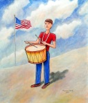 """American Drummer Boy  24"""" x 20"""""""